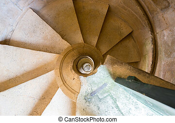 spiral staircase - ancient spiral staircase in church