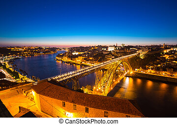 Porto Dom Luiz bridge - Dom Luiz bridge in Porto Portugal at...