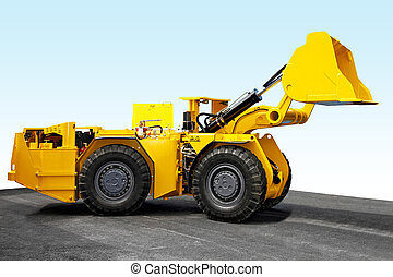 Mining digger - Yellow mining digger for underground hard...