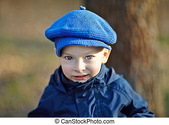 Portrait of cute little boy - Close-up portrait of cute...