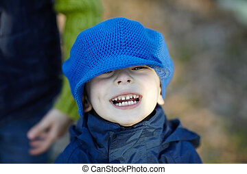 Funny little boy - Close-up portrait of funny little boy...