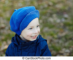 Smiling little boy - Portrait of cute smiling little boy...