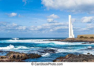 Lighthouse Faro at Tenerife island