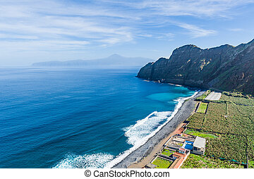 Ocean beach at La Gomera island. Canary islands, Spain -...
