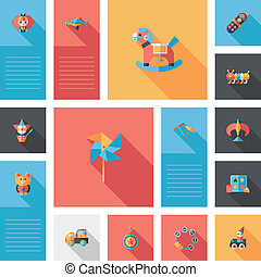 kid toys flat app ui background,eps10