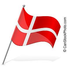 flag of Denmark vector illustration