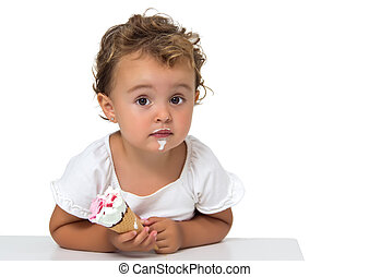 Baby with ice cream