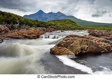 Small river on the Isle of Skye - A small river on the Isle...
