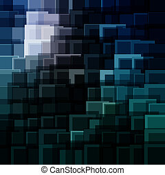 Abstract technology background with bright flare.