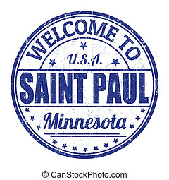 Welcome to Saint Paul stamp - Welcome to Saint Paul grunge...