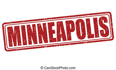 Minneapolis stamp - Minneapolis grunge rubber stamp on white...
