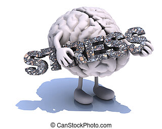 human brain that embraces word stress - human brain with...