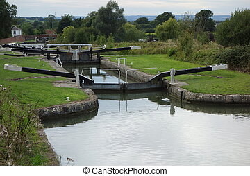 Caen Hill Locks - Some of the twenty-nine Caen Hill Locks on...