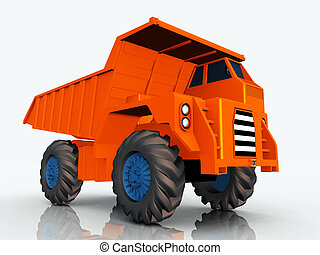 Dump Truck - Computer generated 3D illustration with a Dump...