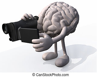 human brain video maker - human brain with arms, legs and...