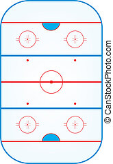ice hockey rink - Ice hockey field