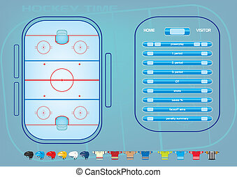 ice hockey - Ice hockey field,game elements,icons,score...