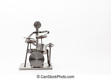 stainless steel drummer - on white you have and stainless...