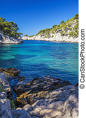 Famous calanques of Port Pin, Cassis, France