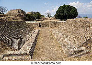 ball court at Monte ALban - ball court at the Monte Alban...