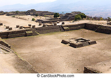 Monte Alban Mixtec ruins in Oaxaca city , Mexico
