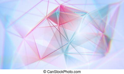 aberrated triangles abstract geometrical background loop -...