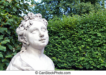 Portrait of a stone woman Royalty Free Stock Photo - a copy...
