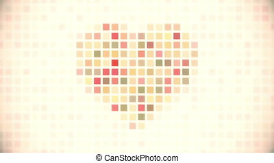 pixel heart seamless loop animation - pixel heart. computer...