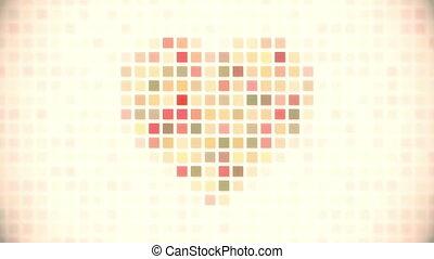 pixel heart seamless loop animation - pixel heart. computer...