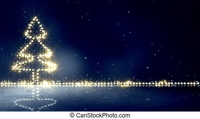 christmas tree glowing lights loop background - christmas...