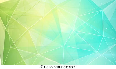 abstract triangle geometrical green cyan background loop -...