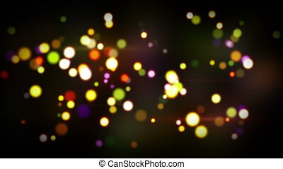 colorful glowing circle bokeh lights loopable background -...