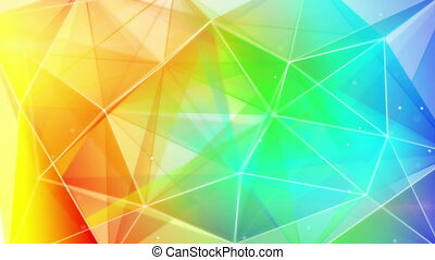 colorful triangles abstract geometrical background loop