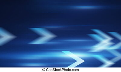blue arrows fast motion loopable background - blue arrows...