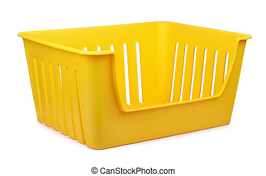 Storage container - Yellow empty plastic storage container...