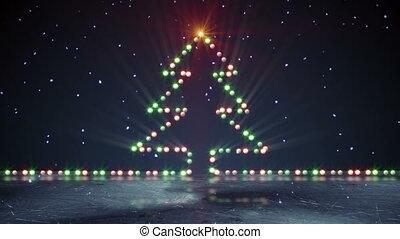 christmas tree shape lights on ice loopable - christmas tree...