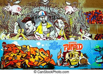 Graffiti in Montreal - MONTREAL CANADA JUNE 24, 2013: Street...