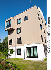 Modern apartment house in Hamburg - A modern apartment house...