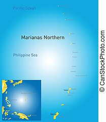 northern mariana islands map - Vector color northern mariana...
