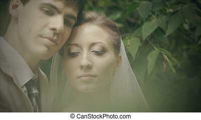 young couple in love spending time together close-up -...
