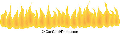 Fire wall. No gradient. Isolated Abstract Background or...