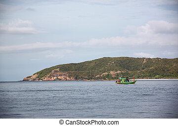 Fishing boat in the sea.