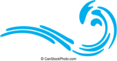 Sea wave No gradientIsolated Abstract Background Vector...