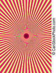 Hypnotic illusion - solar eclipse Abstract Background Vector...