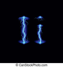 High voltage font - Uppercase and lowercase letters I in...