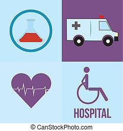 medical icons - four different medical icons on different...