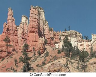 Rock formation in Bryce Canyon National Park - Hoodoos in...