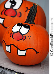 Funny Face - Funny face painted on a pumpkin.