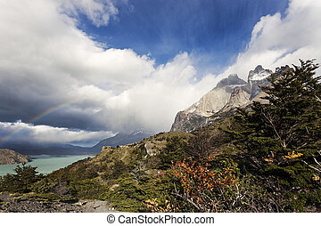 Trail in the Torres del Paines National Park, Chile