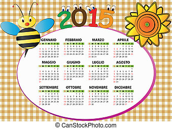 2015 bee and sunflower